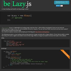 A lazy loading and multi-serving image script