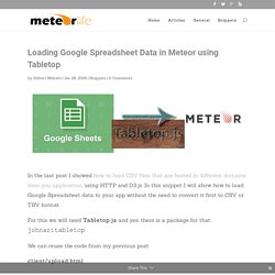 Loading Google Spreadsheet Data in Meteor using Tabletop