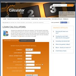 Loan Calculator - The Calculator Site