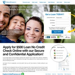 $500 Loan No Credit Check Online Today