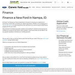 Auto Financing in Nampa, ID
