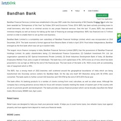Get Loan from Bandhan Bank Limited
