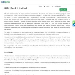 Get Loan from IDBI Bank Limited