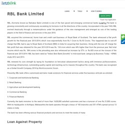 Get Loan from RBL (Ratnakar Bank Limited).