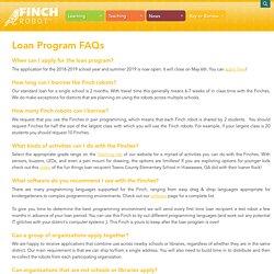 Loan Program FAQs