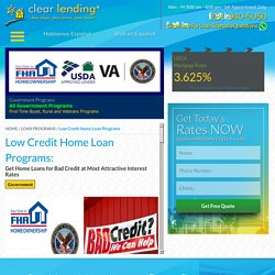 Home loans for bad credit in Houston