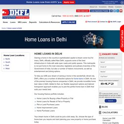 Home Loans in Delhi, Housing Finance Company in Delhi - DHFL