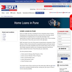 Home Loans in Pune, Housing Finance Company in Pune - DHFL