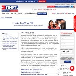 NRI Home Loans – Best NRI Loan Interest Rates in India at DHFL