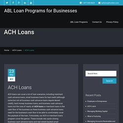 ACH Loans