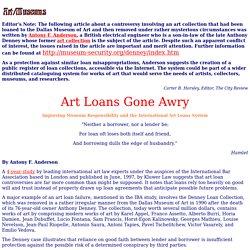 Art Loans Gone Awry -