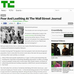 Fear And Loathing At The Wall Street Journal