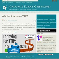 Who lobbies most on TTIP?