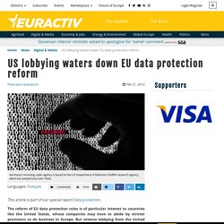 US lobbying waters down EU data protection reform