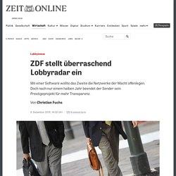 Lobbyismus: ZDF stellt überraschend Lobbyradar ein