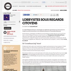 Lobbyistes sous regards citoyens » Article » OWNI, Digital Journalism - Framasoft Framafox