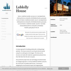 Loblolly House - WikiArquitectura - Buildings of the World