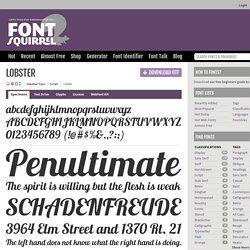 Lobster Font Free by Impallari Type