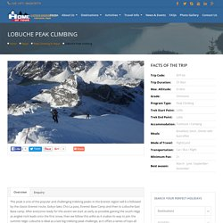Lobuche Peak Climbing 23 Days