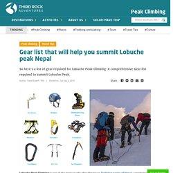 Lobuche Peak Climbing- Gear list that will help you summit