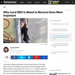 Why Local SEO Is About to Become Even More Important
