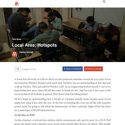 Local Area; Hotspots