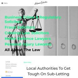 Local Authorities To Get Tough On Sub-Letting