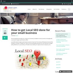How to get Local SEO done for your small business - clicknjoin