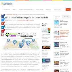 Top 50+ Local Business Listing Sites for Indian Business