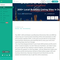 200+ Local Business Listing Sites in Dubai