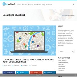 Local SEO Checklist: 27 Tips for How To Rank Your Local Business