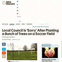 Local Council Is 'Sorry' After Planting a Bunch of Trees on a Soccer Field