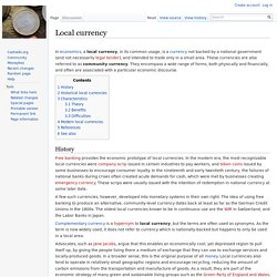 Local currency - Cashwiki - the Collaborative Website about Money