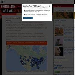 Map - Your Local Fusion Center | Are We Safer? | FRONTLINE