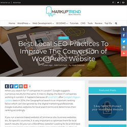 Local SEO Guide for WordPress Website