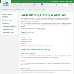 Local history & archives