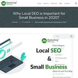 Why Local SEO is Important for Small Business 2020? - Marketing Mercury