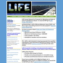 LIFE Co-op - Local Initiative for Future Energy