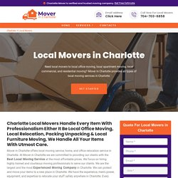 Local Movers Charlotte - Local Moving Help
