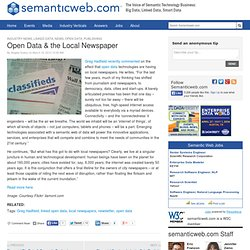 Open Data & the Local Newspaper