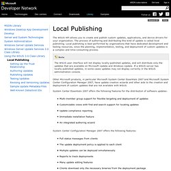 Local Publishing