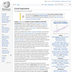 Local regression - Wikipedia