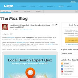 Local Search Expert Quiz: How Much Do You Know about Local SEO?