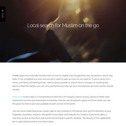 Local search for Muslim on the go