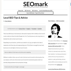 Local SEO Tips & Advice
