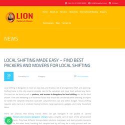 Local Shifting Made Easy – Find Best Packers And Movers For Local Shifting