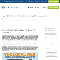 Local SEO Tips for Trades and Contractors in Edmonton
