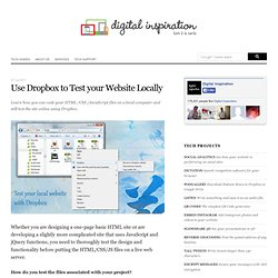 How to Test your Local Website Online with Dropbox