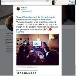"""Yordi Dam Twitter ನಲ್ಲಿ: """"Team @LocalFocusNL (+ @ehwillems die niet op de foto staat) is er klaar voor! Vanavond draaien onze graphics online bij 28 titels, op tv bij 4 zenders en op  en sturen we 83 duizend mails met de uitslagen p"""