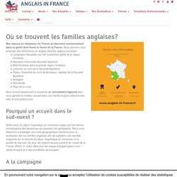 Localisation des familles anglaises - ANGLAIS IN FRANCE